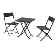 Sunny Sunny Tuinset 3-delig tafel en tuinstoelen polyrattan zwart