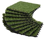 Outsunny Outsunny Kunstgrastegels groen 10 stuks 30 x 30 x 3,5cm