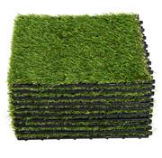 Sunny Sunny Kunstgrastegels groen 10 stuks 30 x 30 x 3,5cm