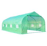 Outsunny Outsunny Tuinkas folie groen met zadeldak 6 x 3 x 2m