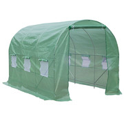Outsunny Outsunny Tuinkas folie groen voor tomaten 3,5 x 2 x 2m