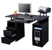 HOMCOM HOMCOM Computertafel Bureau zwart | verschillende niveaus en lades | 120 x 55 x 85cm