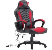 HOMCOM HOMCOM Bureaustoel ergonomisch gamingstoel met massagefunctie zwart/rood