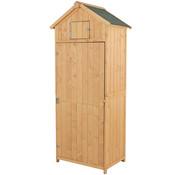 Outsunny Outsunny Tuingereedschap huis met 3 legplanken hout bruin 77 x 54,2 x 179cm