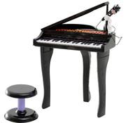 HOMCOM HOMCOM Piano-muziekinstrument voor kinderen met 37 toetsen incl. zwart