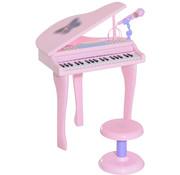 HOMCOM HOMCOM Pianomuziek voor kinderen MP3 USB incl. Ontlasting 37 roze toetsen