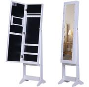 HOMdotCOM HOMdotCOM LED passpiegel met geïntegreerde sieradenkast 30 x 136 x 36 cm