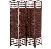 HOMdotCOM HOMdotCOM Kamerscherm 4-delig bamboe bruin 160 x 2 x 170 cm