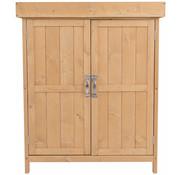 Sunny Sunny Handige Tuinkast met 2 legplanken naturel hout 74 x 43 x 88cm