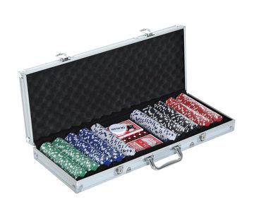 HOMCOM HOMCOM Pokerkoffer alu pokerset met 500 pokerchips