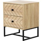 HOMCOM HOMCOM Nachtkastje met 2 laden naturel hout 48 x 39,5 x 60cm