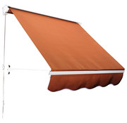 Outsunny Outsunny Luifel handmatig uitschuifbaar aluminium zonnescherm bruin 122 x 70 cm