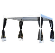 Outsunny Outsunny Luxe Partytent waterafstotend met zijwanden 300 x 300 cm wit