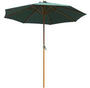 Outsunny Outsunny Parasol houten standaard 270 cm groen