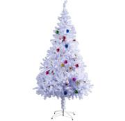 HOMCOM HOMCOM Kerstboom dennenboom met standaard incl, decoratie 180 cm wit