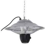 Outsunny Outsunny Stralingsverwarmer 1500W met LED incl. Afstandsbediening aluminium zilver