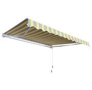 Outsunny Outsunny Zonnescherm luifel handmatig geel-grijs waterafstotend 350 x 250 cm
