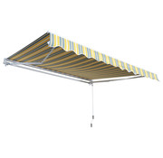 Sunny Sunny Zonnescherm luifel handmatig geel-grijs waterafstotend 350 x 250 cm