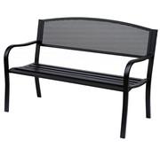 Outsunny Outsunny Metalen Tuinbank parkbank 2-pers zwart 126 x 60 x 85 cm