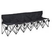 Outsunny Outsunny Campingbank opvouwbaar 6-zits met draagtas zwart 279 x 48 x 80