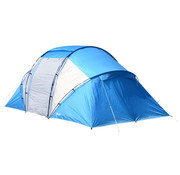 Outsunny Outsunny Tent met 2 slaapcabines blauw 460 x 230 x 195 cm
