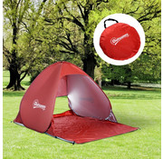 Outsunny Outsunny Pop Up strandtent automatisch 2-pers rood 150 x 200 x 115 cm