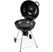 Outsunny Outsunny BBQ rond met as-vanger metaal zwart Ø 57 x 94 cm
