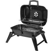 Outsunny Outsunny Tafelgrill-BBQ op houtskool opklapbaar en draagbaar metaal zwart 59 x 43 x 36 cm