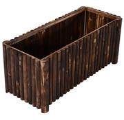 Outsunny Outsunny Plantenbak naturel hout donker 120 x 50 x 50cm