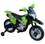HOMdotCOM HOMdotCOM Elektrische kindermotor zwart/groen 3 tot 8 jaar