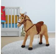 HOMdotCOM HOMdotCOM Kinderpaard staand Paard zonder schommel beige bruin