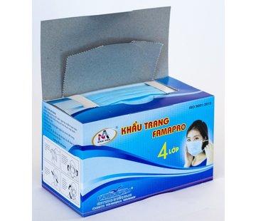 Khau Mondkapje mondmasker - 50 stuks - 175 x 90mm - Blauw type IIR