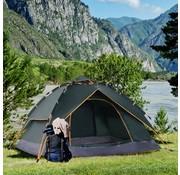 Sunny Sunny Tent Quick-Up 2 personen + 1 Kind Waterdichte Draagtas 2 Deuren Donkergroen 210 x 210 x 140 cm