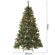 HOMCOM HOMCOM Kerstboom 180 cm Dennenboom 200 LEDs 616 takken