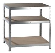 Generic Metalen Opbergrek/Stellingkast met 3 legborden - 425kg draagkracht - (HxBxD) 90x90x40 cm - 141kg per plank