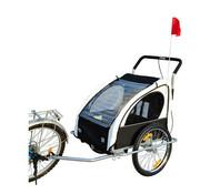 HOMdotCOM HOMdotCOM Fietskar EN hardloop buggy 2-in-1 wit/zwart