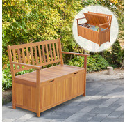 Outsunny Outsunny Handige Tuinbank met opbergruimte 2-pers waterdicht hout bruin 120 x 60 x 87 cm