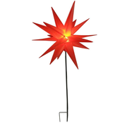 Generic LED kunststof ster met stang 58 cm, rood
