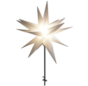 Generic LED kunststof sterren 58cm, Wit