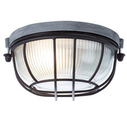 Brilliant Plafondlamp Lauren industrieel zwart 40W Ø 18 cm