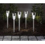 Generic Wetelux Solar LED grondspies verlichting 5 stuks
