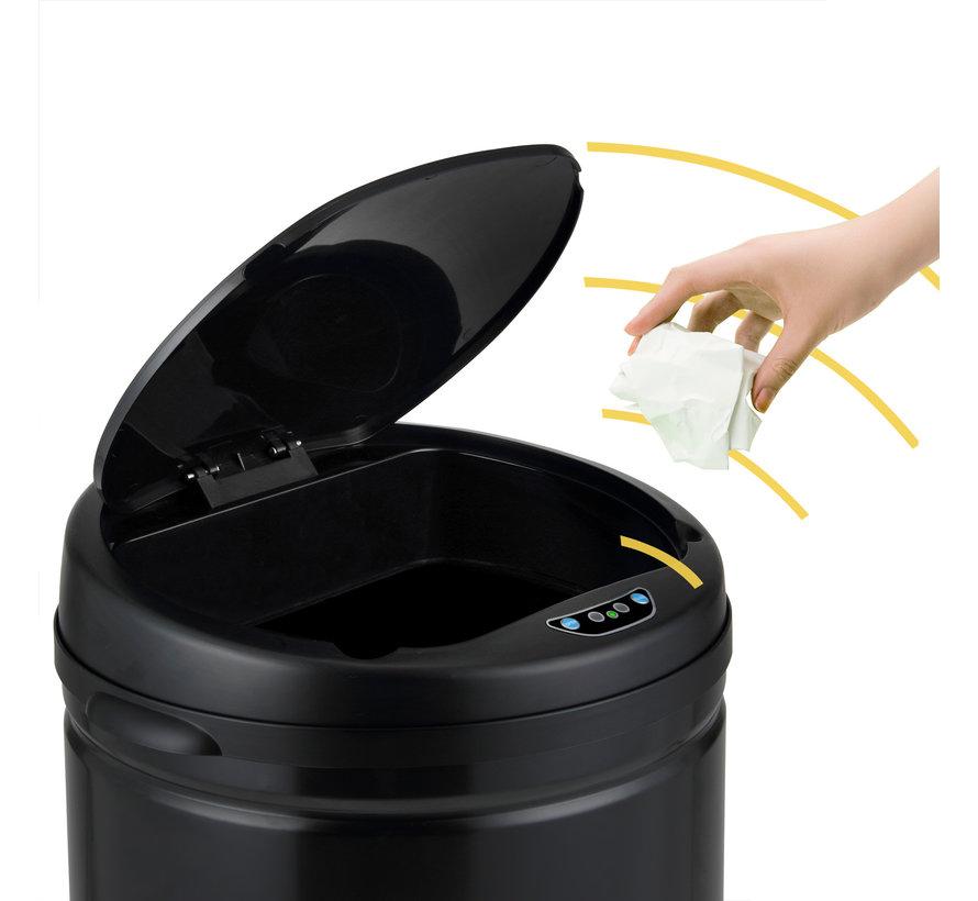 Deuba Prullenbak met sensor RVS zwart 30 liter