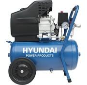 Hyundai Hyundai compressor 24 liter met vochtafscheider - 8 BAR - 66dB - 180 liter/minuut - 2PK - 1500W