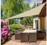 Outsunny Outsunny Zonnedoek driehoekig polyester crème 3 x 3 x 3m