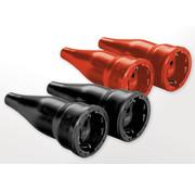 AS Schwabe AS Schwabe Rubberen stekker 2-pool, IP20-beveiliging, 2 stuks, zwart
