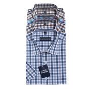 Generic Casual shirt met korte mouw, verschillende kleuren in verschillende ruitjesmotieven, maat 41/42