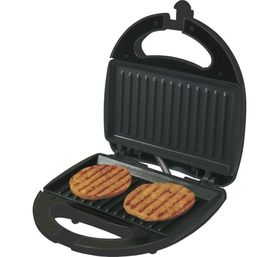 Black+Decker tosti-ijzer – RVS – non-stick – indicatielampje – 750W