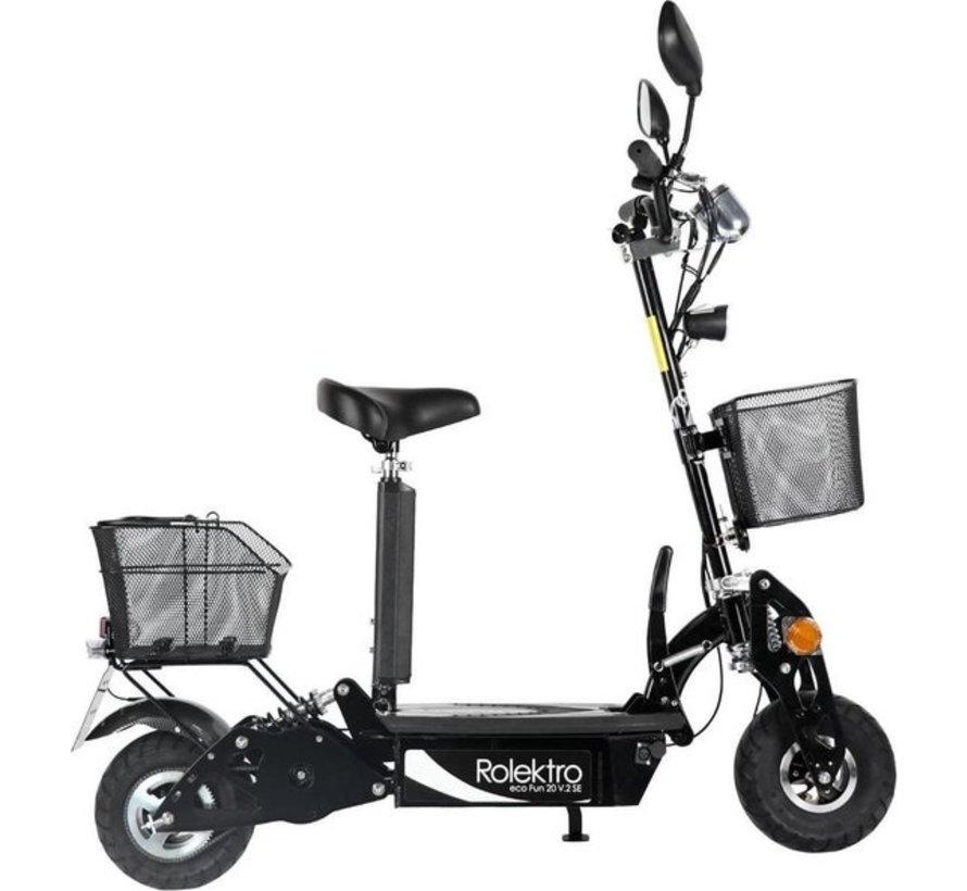 Rolektro opvouwbare elektrische step Eco-Fun 20 - 20 km/u - Zwart
