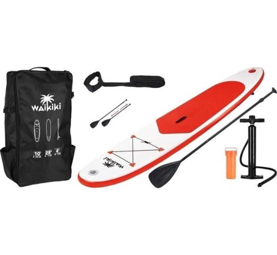 Wakiki Sup board beginners 305 cm - 6-delige set - Rood  wit