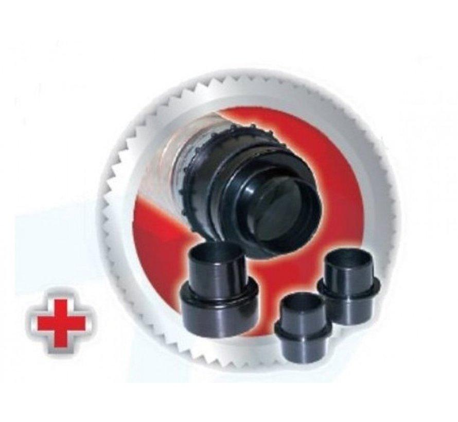 Spaanafzuiging afzuiginstallatie HD12 - 550W   230V   1600 Pa   Incl. 21 stofzakken